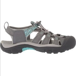 KEEN Women's hydro newport h2 blue gray sandals watershoes hiking size 7.5